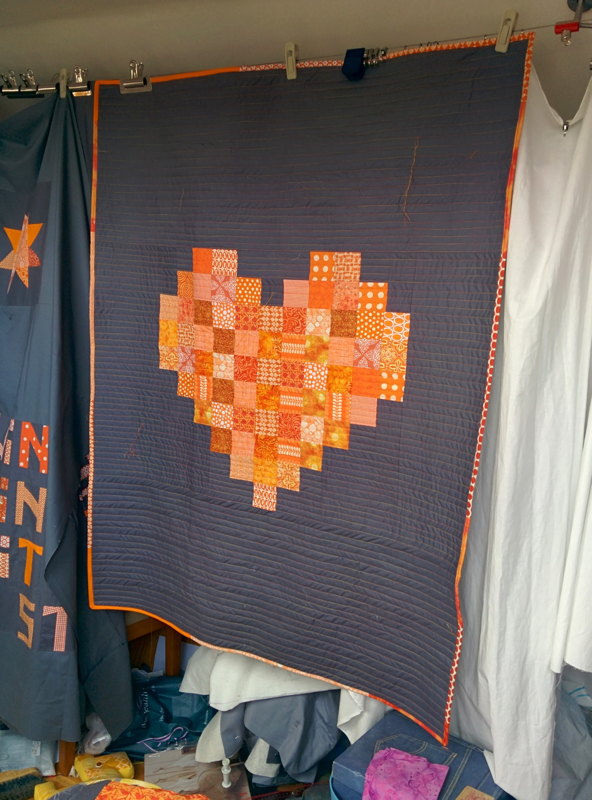 Orange heart - finished